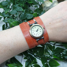 Load image into Gallery viewer, Leather Wrap Watch - Shadow Crafts - gift idea - recycled leather