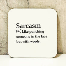 Load image into Gallery viewer, Sarcasm Mug - Funny Dictionary Definition - The Crafty Little Fox