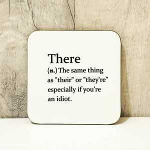 Sarcastic dictionary definition coaster - There - The Crafty Little Fox