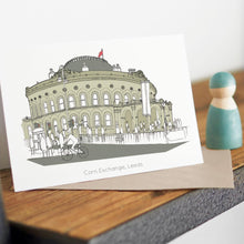 Load image into Gallery viewer, Corn Exchange Card - Accidental Vix Prints - Leeds Illustrations - greetings cards