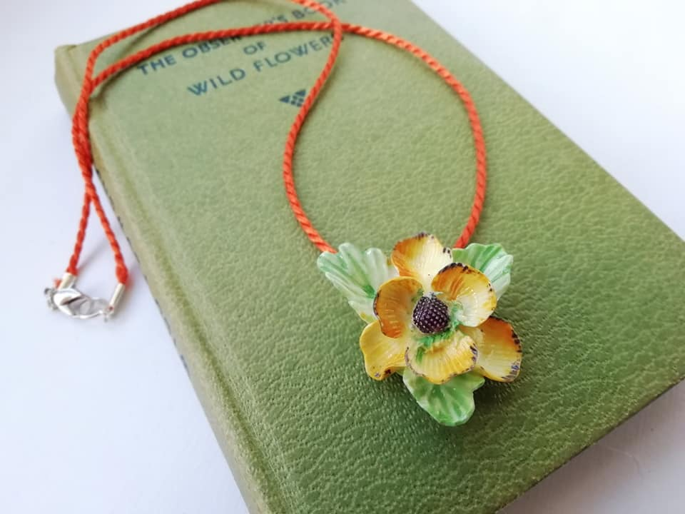 Vintage China Flowers Necklace - Urban Magpie - statement china jewellery