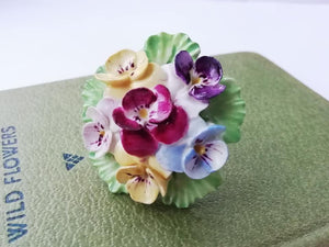Vintage China Flowers Ring