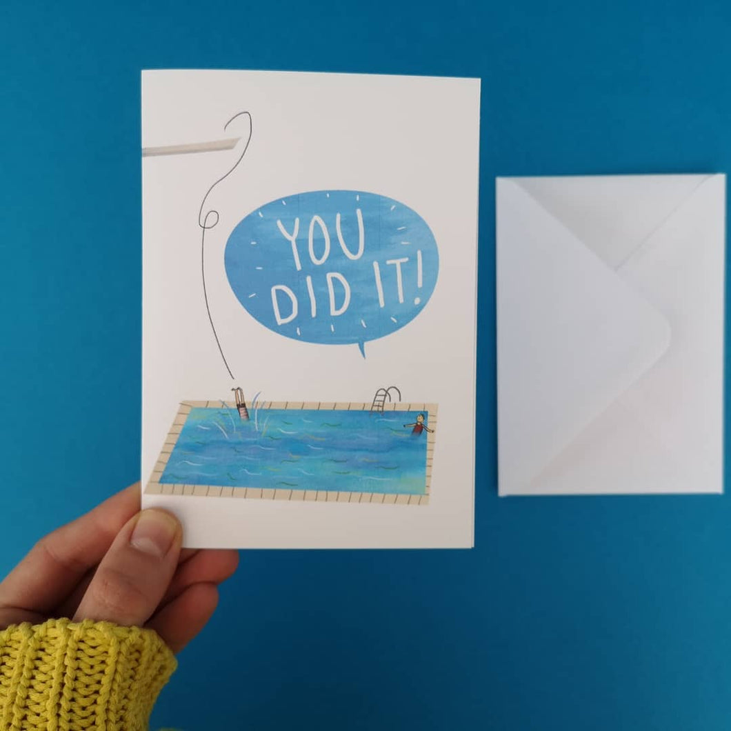 You Did It! - Greetings Card - Illustrator Kate - Congratulations