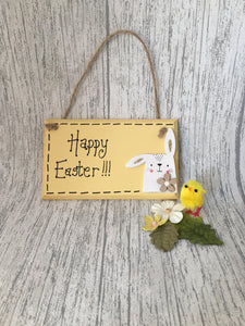 Happy Easter handpainted wooden sign