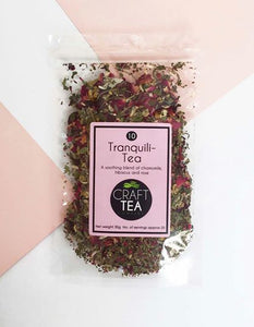Craft Tea - Tranquili-Tea - soothing Chamomile, hibiscus and rose