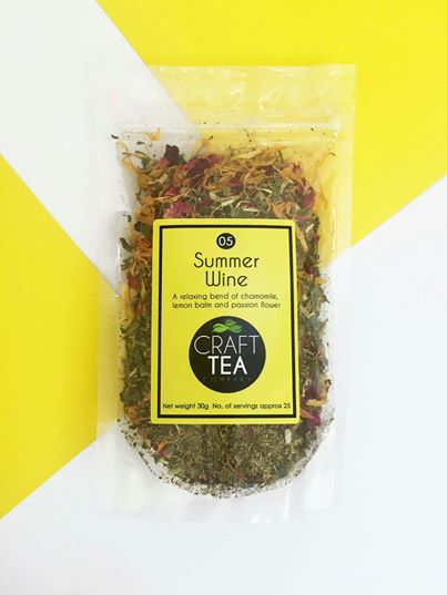Craft Tea - Summer Wine - relaxing Chamomile, lemon balm and passion flower