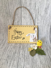 Load image into Gallery viewer, Happy Easter handpainted wooden sign