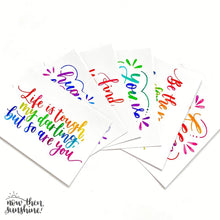 Load image into Gallery viewer, Motivational, Inspirational Notecards pack - Now Then Sunshine - rainbow