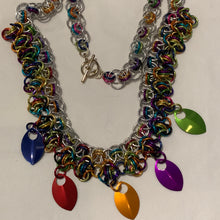Load image into Gallery viewer, Chain-Maille necklaces - unusual jewellery - colourful necklace - Gemstone Boutique