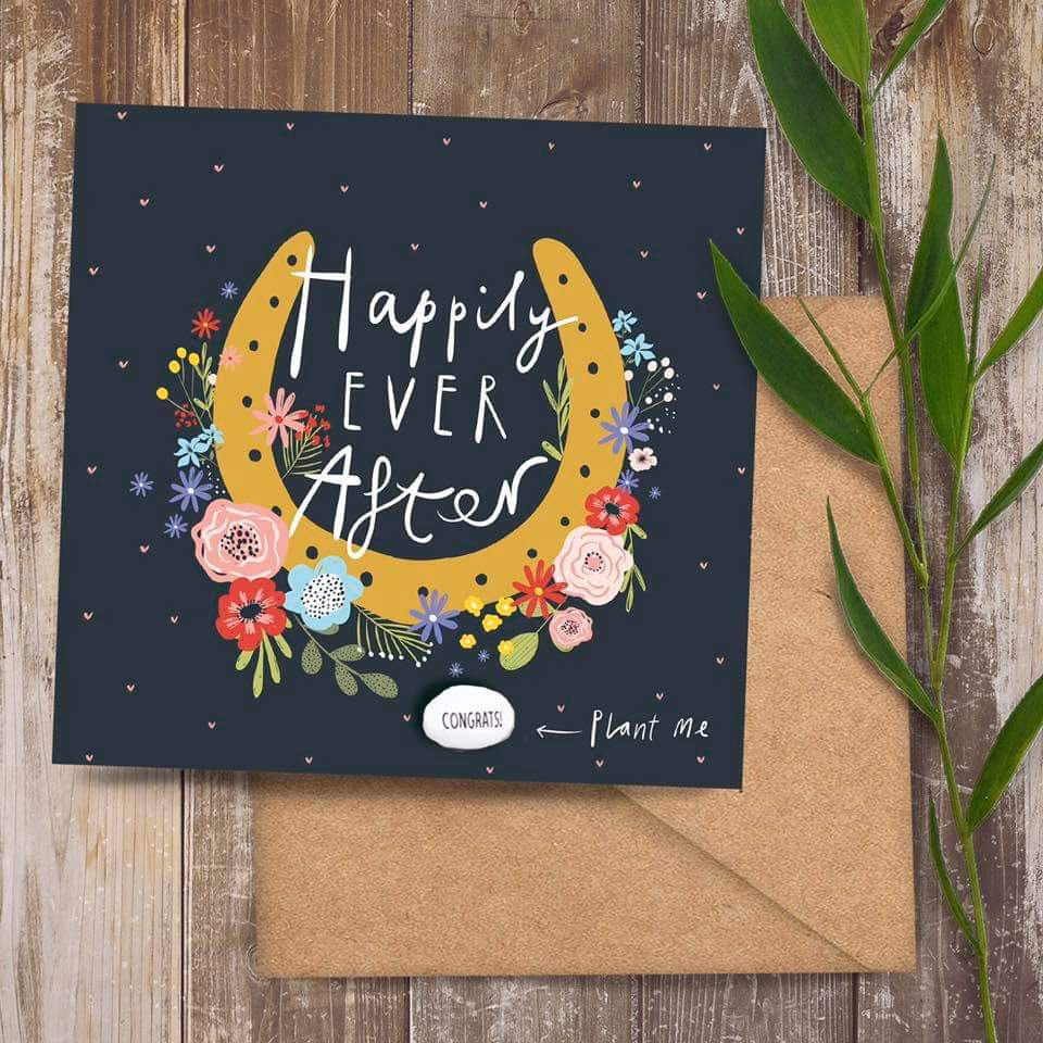 Plantable Bean Greetings Card - Happily Ever After - Lucy and Lolly