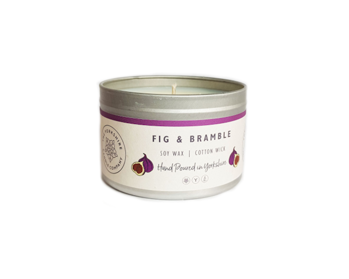 Candle - Fig and Bramble - hand poured soy wax candles - The Yorkshire Candle Company Ltd