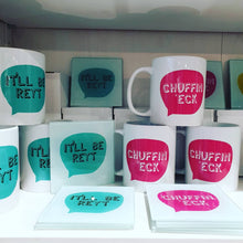 Load image into Gallery viewer, Yorkshire sayings Mugs - Ow Do - It'll Be Reyt - Ey Up - Chuffin Eck - Fred & Bo - Yorkshire Slang