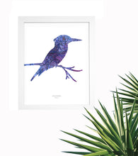 Load image into Gallery viewer, Vintage Map Artwork Framed Print - Kingfisher - Available as Leeds, Yorkshire or Personalised Designs