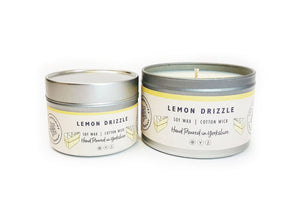 Candle - Lemon Drizzle - hand poured soy wax candles - The Yorkshire Candle Company Ltd