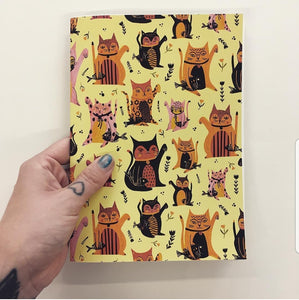 Lucky Cats Notebook - Jenna Lee Alldread - stationery lovers - cat lover giftsani