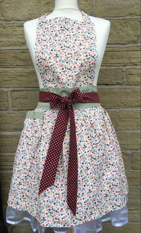 Apron - Floral Ditzy - Kitsch-ina - Retro style pinny
