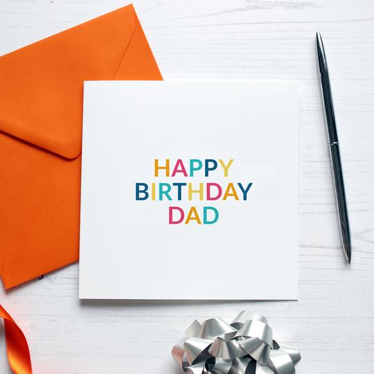 Happy Birthday Dad Card - Purple Tree Designs