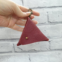 Load image into Gallery viewer, Leather Earphone Pouch/Coin Purse Keyring - Shadow Craft - Recycled Leather