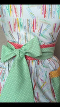 Load image into Gallery viewer, Apron - Peg Print - Kitsch-ina -vintage style pinny