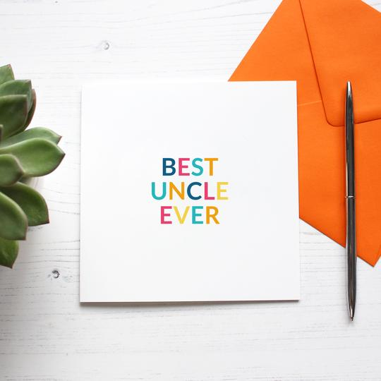 Best Uncle Ever Card - Purple Tree Designs