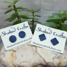 Load image into Gallery viewer, Leather Stud Earrings - Shadow Crafts