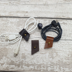 Leather Cable Tidy/Cable Clips - Set of 3 - Shadow Craft
