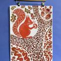 Load image into Gallery viewer, Tea Towel - Squirrel Heaven - Rach Red Designs