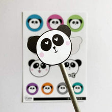 Load image into Gallery viewer, Panda Stickers - Hu and Mee - indoor/outdoor