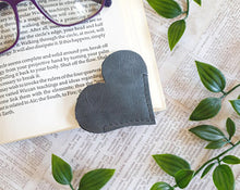 Load image into Gallery viewer, Leather Heart Bookmark - Shadow Crafts - Recycled Leather