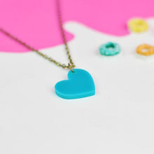 Load image into Gallery viewer, Heart Necklace - Acrylic Heart shaped necklace - Silly Loaf - Bright and colourful
