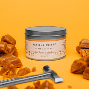Candle - Vanilla Toffee - hand poured soy wax candles - The Yorkshire Candle Company Ltd