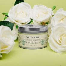 Load image into Gallery viewer, Candle - White Rose - hand poured soy wax candles - The Yorkshire Candle Company Ltd