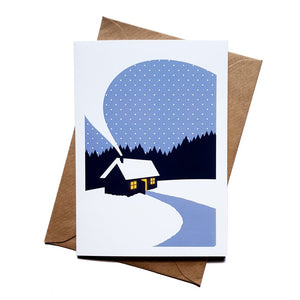 Cabin greetings card - the great outdoors - Or8 Design - adventure card