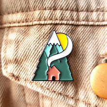 Load image into Gallery viewer, Cabin Enamel Pin - Or8 Design - camping, outdoors, adventure