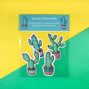 Cactus Sticker pack - plant lovers - Cacti - Bronte Laura Illustration