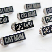 Load image into Gallery viewer, Cat Mum enamel pin - cat lovers - Purple Tree Designs