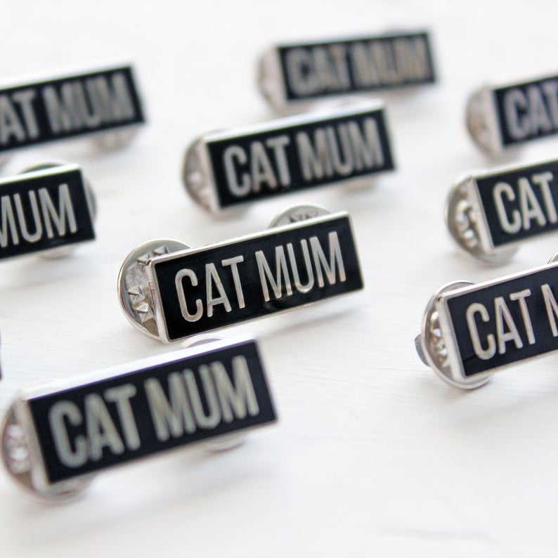 Cat Mum enamel pin - cat lovers - Purple Tree Designs