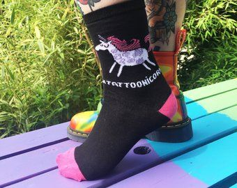 Tattoonicorn Socks - Puns - Katie Abey - Magical Gifts - Unicorn