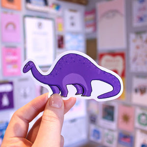 Brontosaurus Sticker - Dinosaur - Bronte Laura Illustration