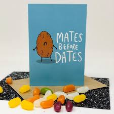 Mates before Dates - friendship card - celebrations - Katie Abey
