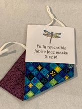 Load image into Gallery viewer, Fabric Face Masks - Reversible face coverings - Adult size - adjustable straps - Gemstone Boutique