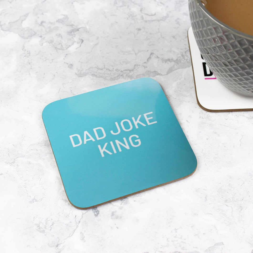 Dad Joke King Coaster - Gifts for Dad - Purple Tree Designs