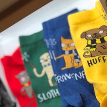 Load image into Gallery viewer, Houses of Hogwarts Socks - Puns - Katie Abey - Magical Gifts