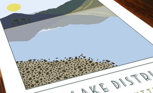 Haystacks and Buttermere travel inspired poster print - Sweetpea & Rascal - Lake District Cumbria