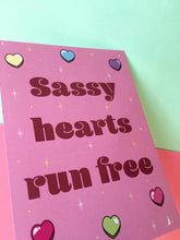 Load image into Gallery viewer, Sassy Hearts Run Free - Mini Print - Thriftbox