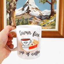 Load image into Gallery viewer, Damn Fine cup of Coffee Mug - Twin Peaks - Coffee Lovers - Thriftbox