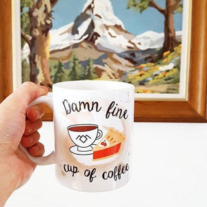 Damn Fine cup of Coffee Mug - Twin Peaks - Coffee Lovers - Thriftbox