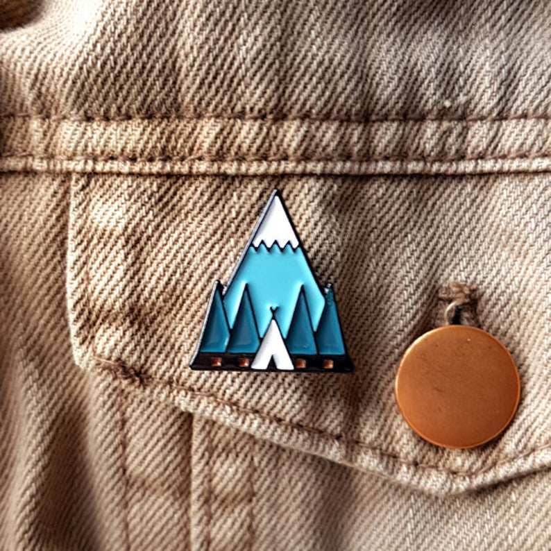 Tent Enamel Pin - Or8 Design - camping, outdoors, adventure