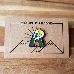 Cabin Enamel Pin - Or8 Design - camping, outdoors, adventure