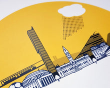 Load image into Gallery viewer, Manchester Screenprint - City skyline print - Or8 Design